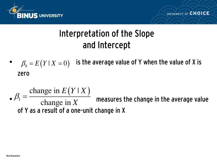 Interpretation of the Slope