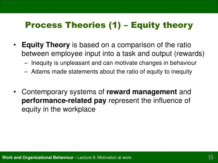 Process Theories (1) – Equity theory