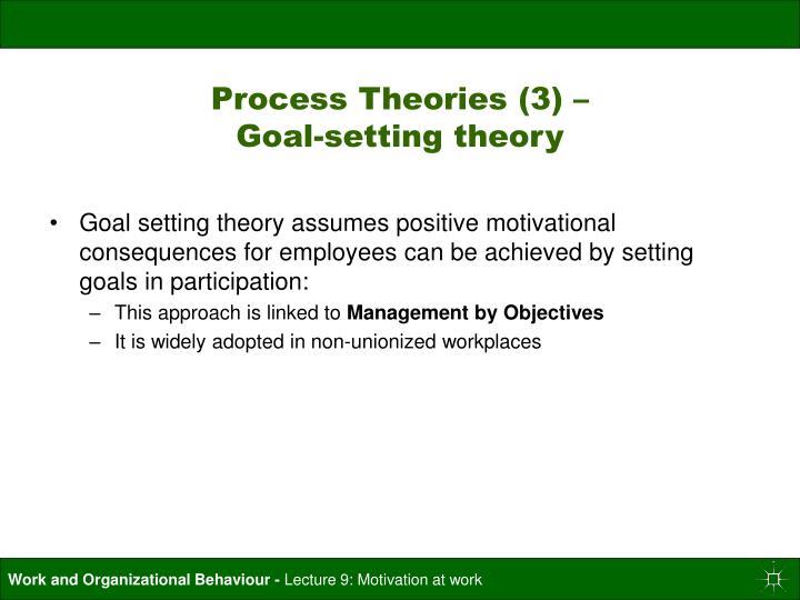 Process Theories (3) –