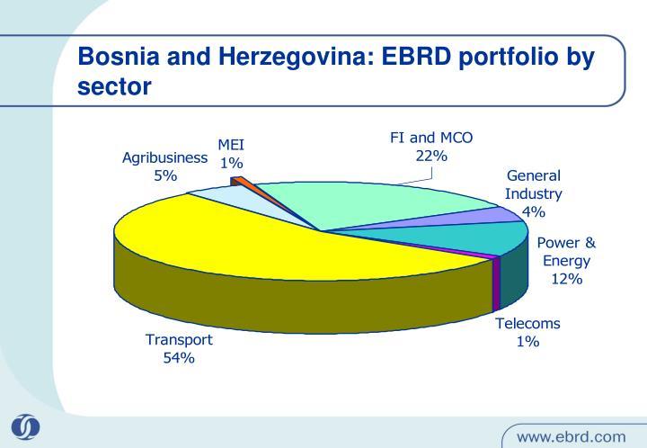 Bosnia and Herzegovina: EBRD portfolio by sector