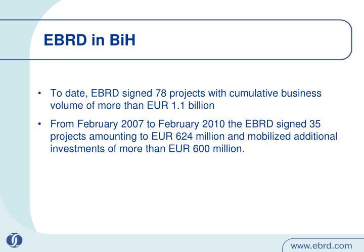 EBRD in BiH