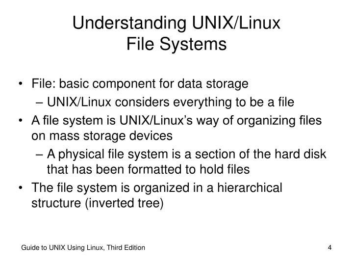 Understanding UNIX/Linux