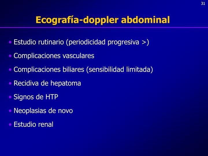 Ecografía-doppler abdominal