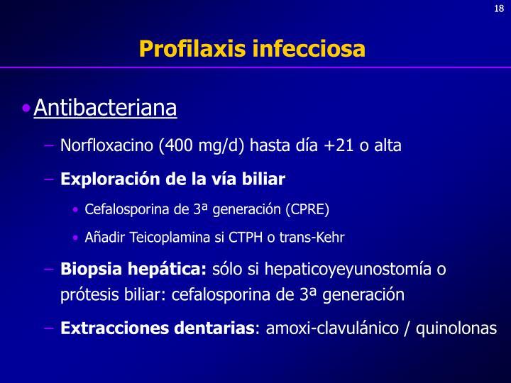 Profilaxis infecciosa