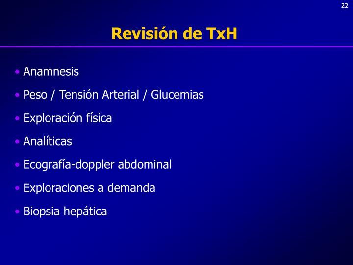 Revisión de TxH