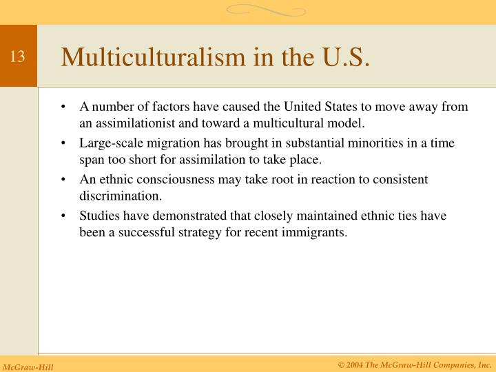 Multiculturalism in the U.S.