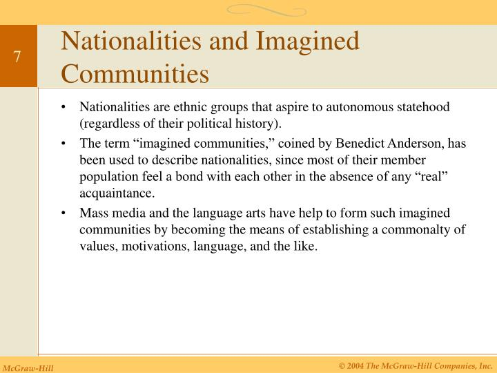 Nationalities and Imagined Communities