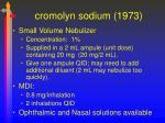 cromolyn sodium 1973