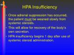 hpa insufficiency