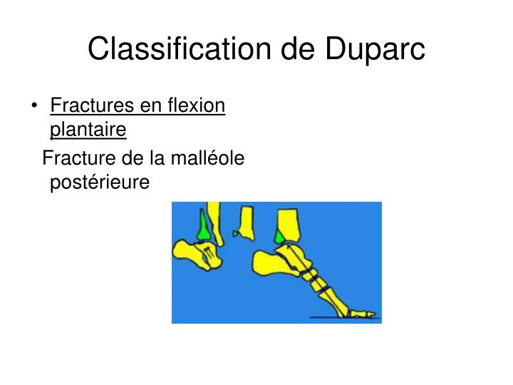 Classification de Duparc