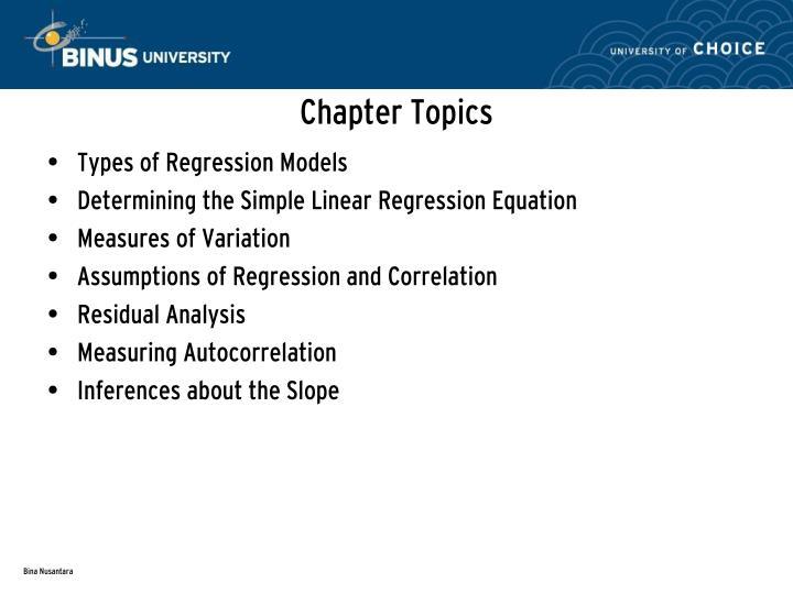 Chapter Topics