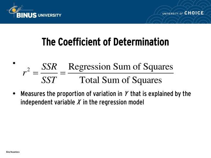 The Coefficient of Determination