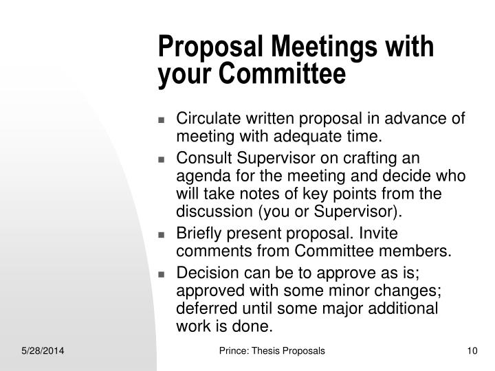 Proposal Meetings with your Committee