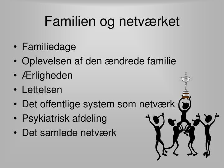 Familien og netværket