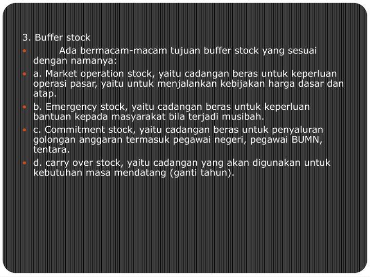 3. Buffer stock