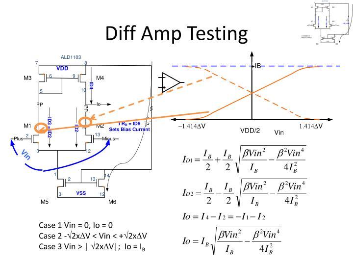 Diff Amp Testing
