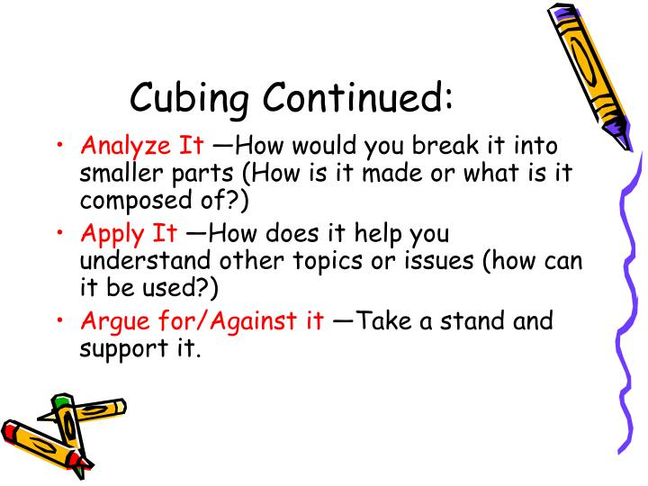 Cubing Continued:
