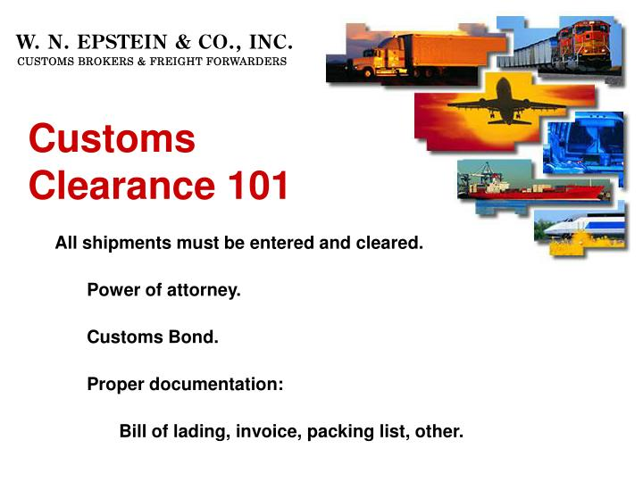 Customs Clearance 101