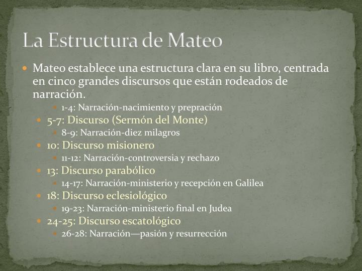 La Estructura de Mateo
