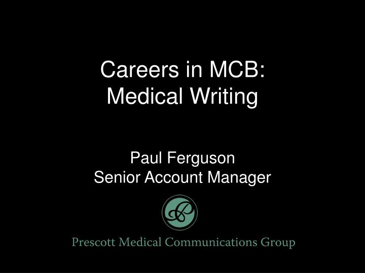 Careers in MCB: