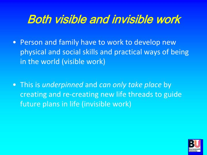 Both visible and invisible work