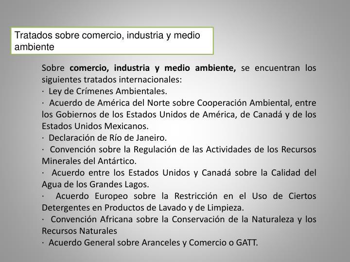 Tratados sobre comercio, industria