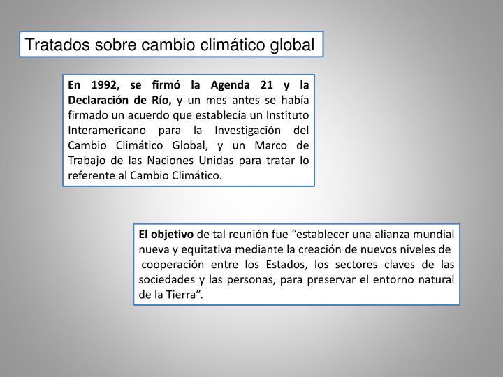 Tratados sobre cambio climático global