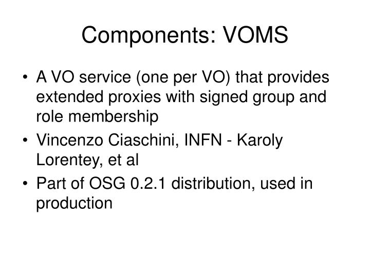Components: VOMS