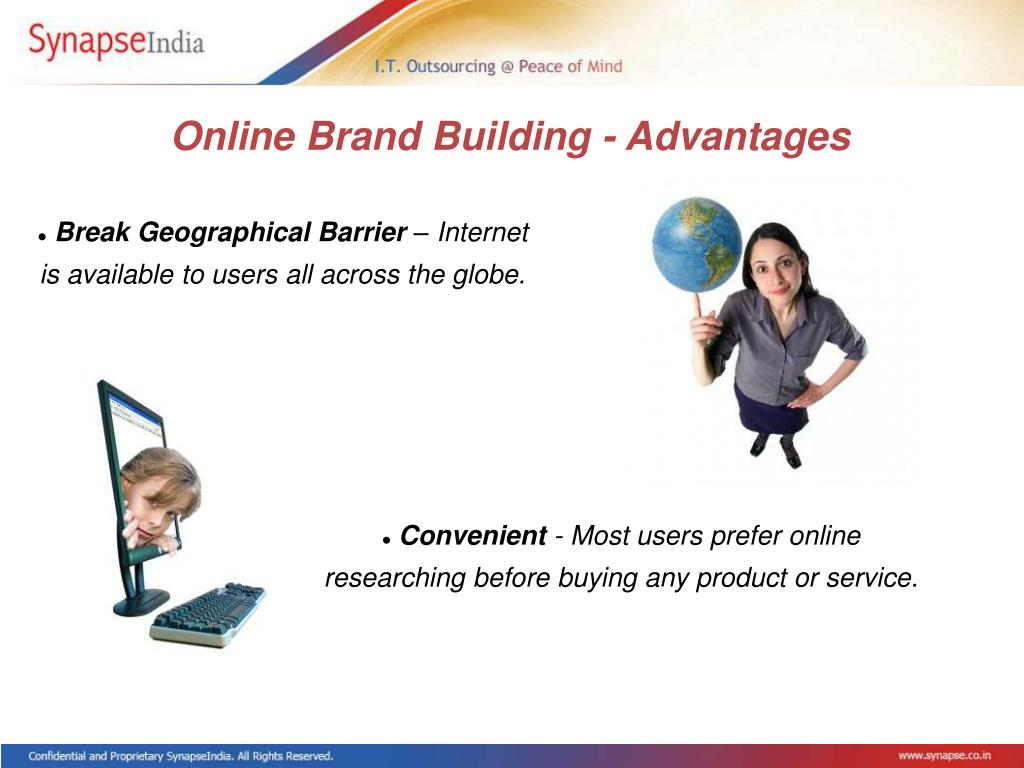 Online Brand Building - Advantages