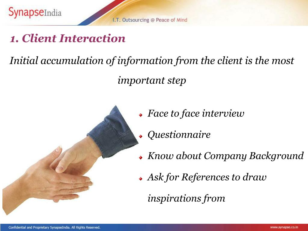 1. Client Interaction