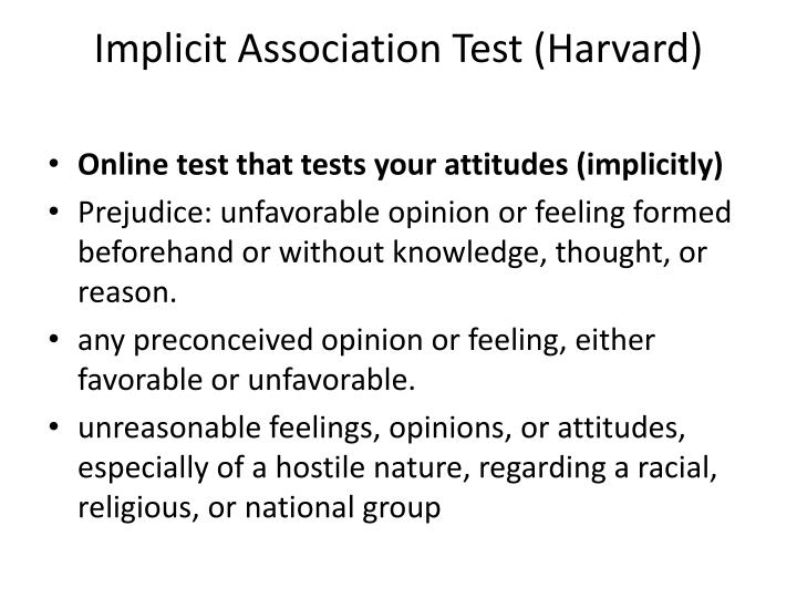 Implicit Association Test (Harvard)