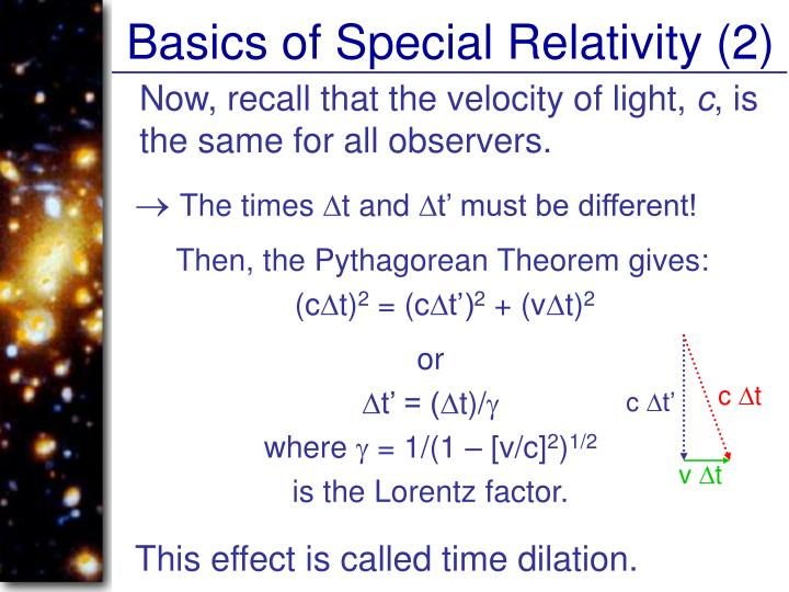 Basics of Special Relativity (2)