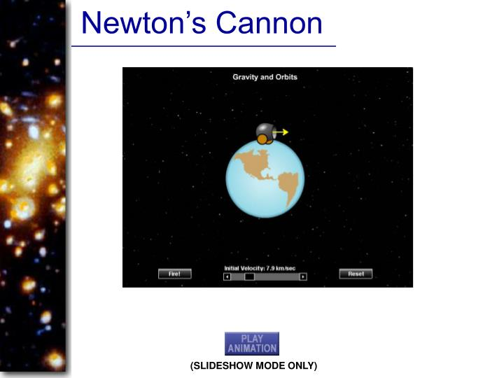 Newton's Cannon