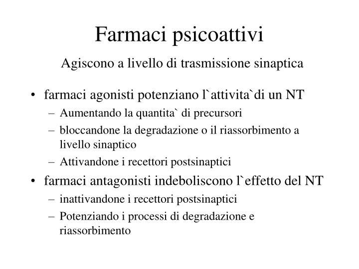 Farmaci psicoattivi