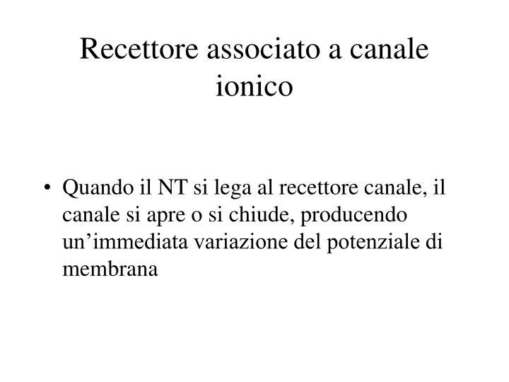 Recettore associato a canale ionico