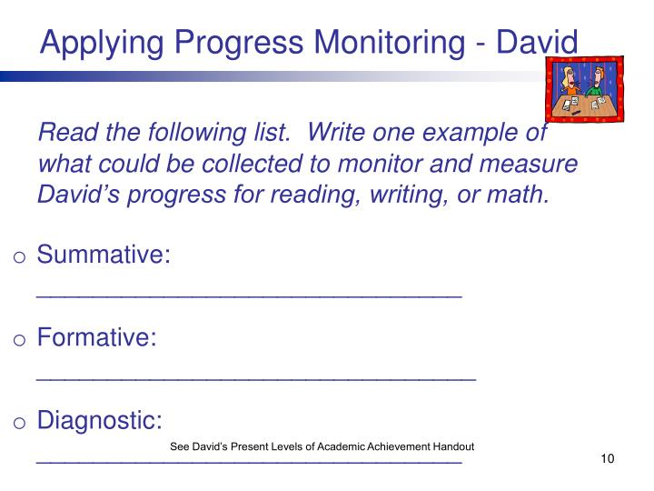 Applying Progress Monitoring - David