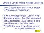 sample of david s writing progress monitoring