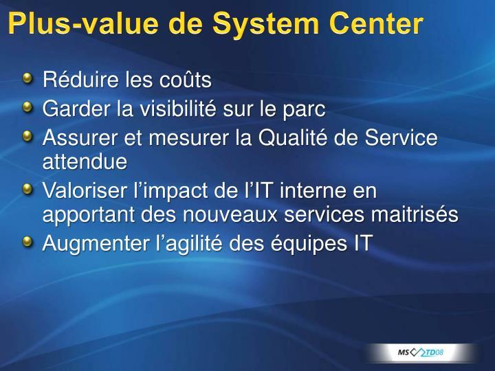 Plus-value de System Center