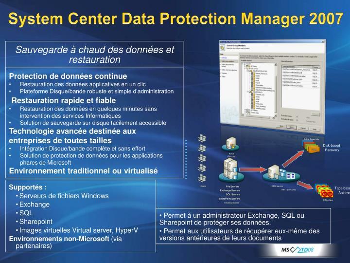 System Center Data