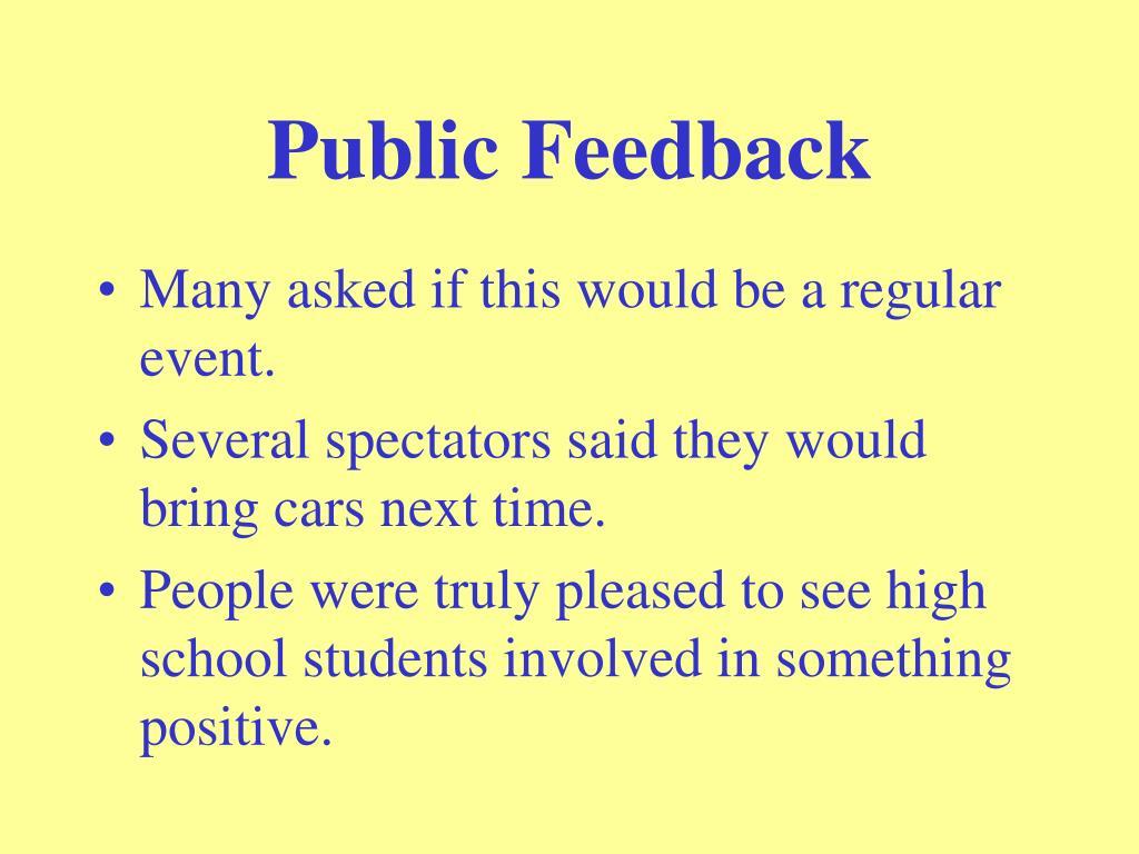 Public Feedback
