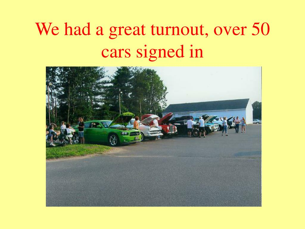We had a great turnout, over 50 cars signed in