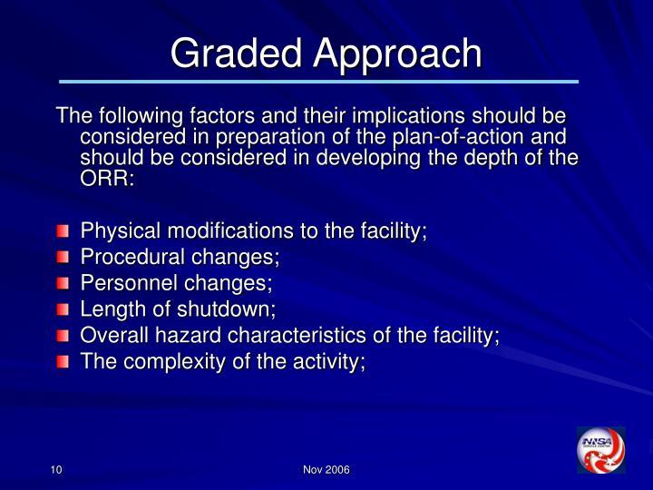 Graded Approach