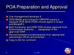 poa preparation and approval