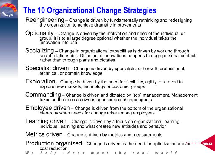 The 10 Organizational Change Strategies