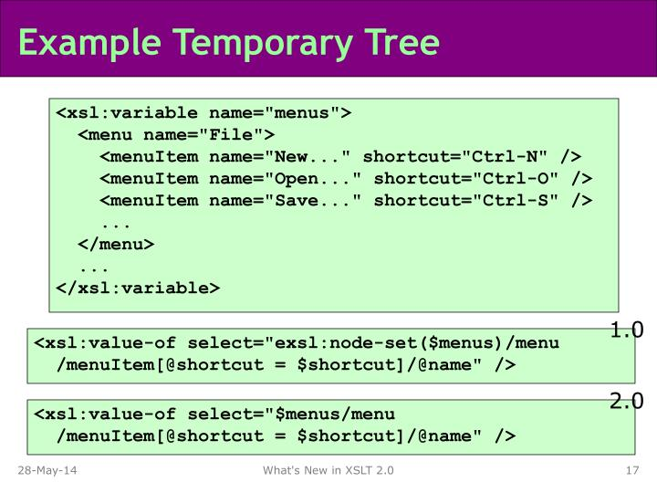 Example Temporary Tree