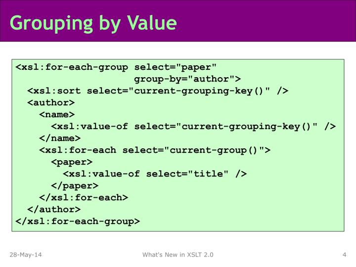 Grouping by Value