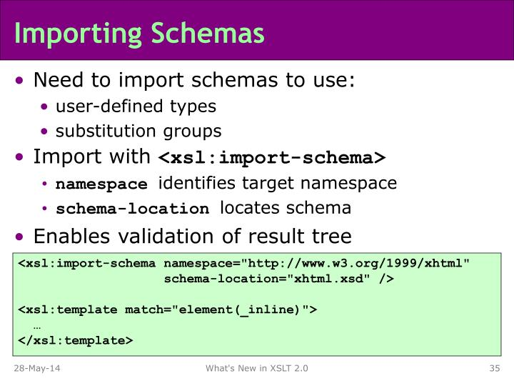 Importing Schemas