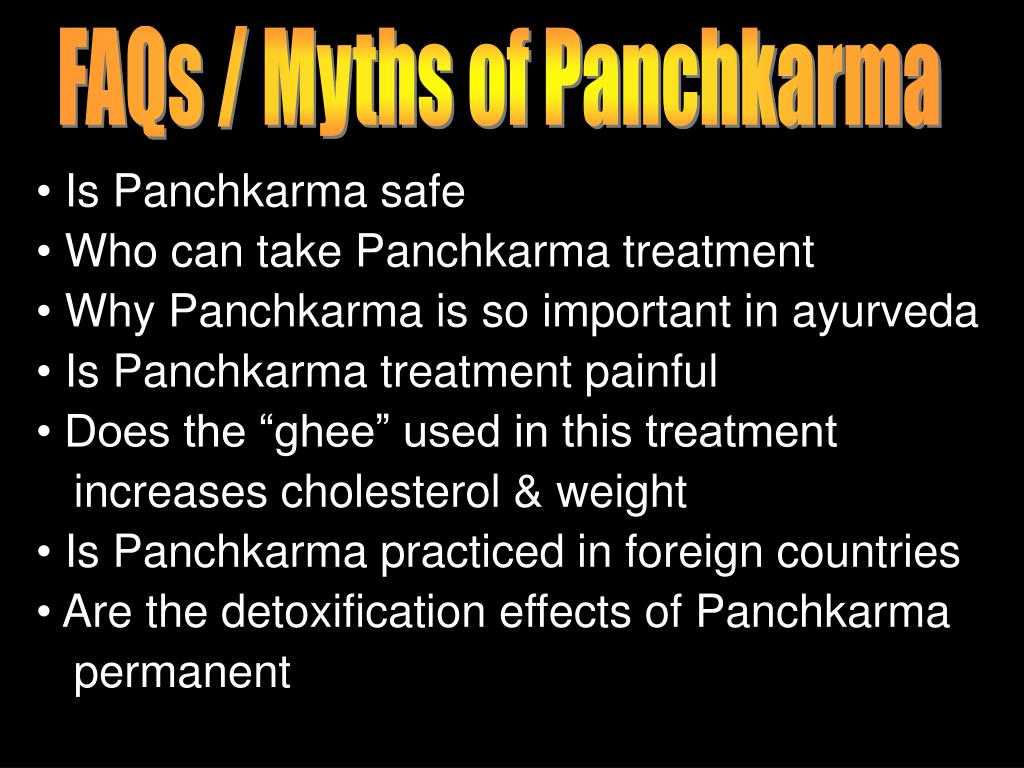 FAQs / Myths of Panchkarma