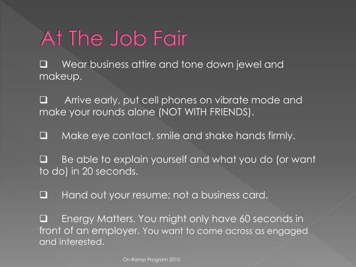 At The Job Fair