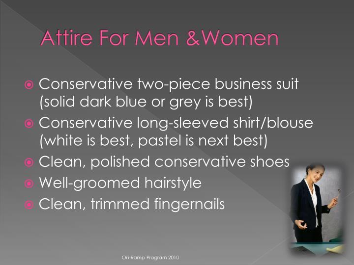 Attire For Men &Women